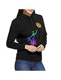 CX02D215JGFFD Mary Poppiins Hoodies for Womens Black