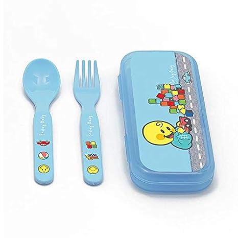 Smiley Baby - Cubertería Infantil - Azul BOM: Amazon.es: Hogar