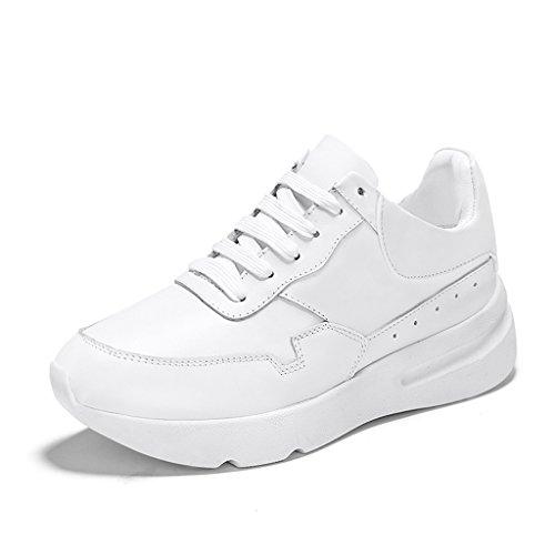 Zapatos para mujer HWF Zapatos blancos pequeños Zapatos de plataforma de primavera femenina fondo gruesos movimiento (Color : White black, Tamaño : 38) Blanco