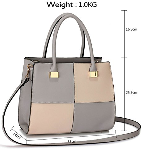 Large Medium Design Large Designer Ladies Fashion Bags Faux Extra Grey Leather Large Womens Nude 1 Medium Handbags U8wwAct7q