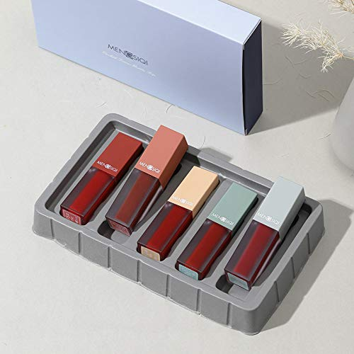Matte Lipgloss Sexy Flüssigkeit Lippenstift Glitter Langlebig Wasserdicht Kosmetische Schönheit Halten 24 Stunden Make-Up lipgloss TSLM2 (Perfekte Größe-messungen)