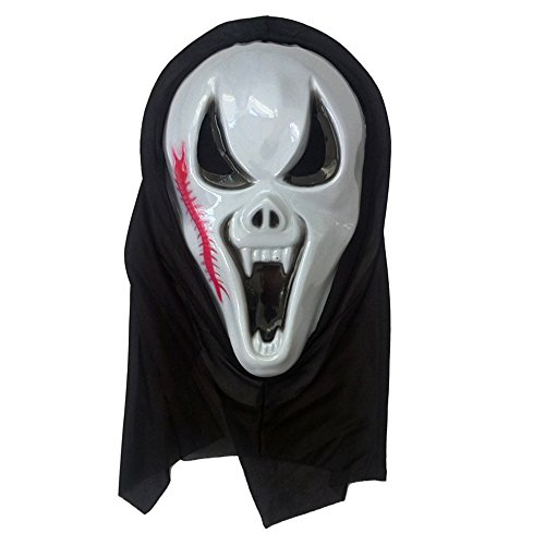 [MIQI Halloween Costume Kids Skeleton Cosplay Costume Scary for Boys Girls Perfect for Party (Mask B)] (B Boy Costume)