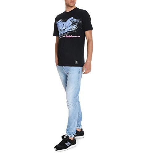 Franklin & Marshall Herren TSMF236ANS170021 Schwarz Baumwolle T-Shirt
