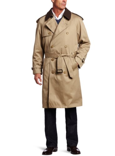 Hart Schaffner Marx Men's Burnett Trench Coat, Tan, 40 Short -