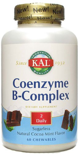 KAL Coenzyme B-Complex Cocoa Mint -- 60 Chewables - 3PC by Kal