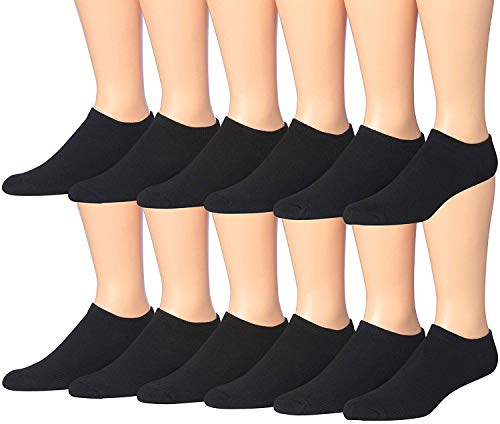 James Fiallo Men's 12-Pairs Low Cut Athletic Socks, (Sock size 10-13) Fits shoe size 6-12, 2902-12