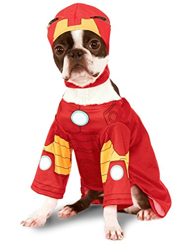 Rubies Costume Company Marvel Classic/Marvel Universe Iron Man Pet Costume, (Halloween Costumes In Boston)