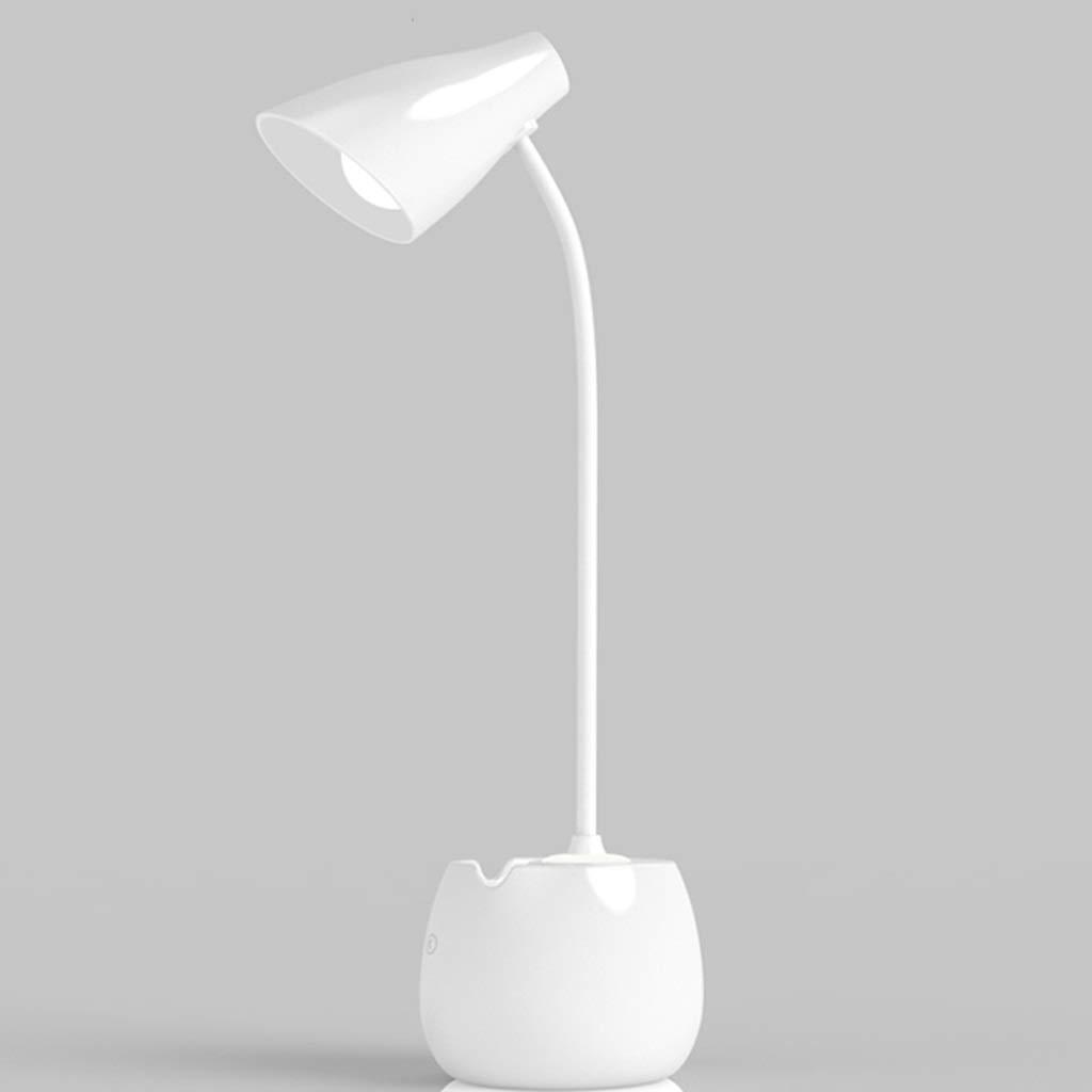 LXRZLS LED-Augenschutz Schreibtischlampe wiederaufladbare Schlafzimmer Home Tischlampe einstellbare Schlafsaal Schreibtischlampe
