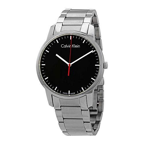 - Calvin Klein Men's City Watch - K2G2G141 Black/Silver One Size