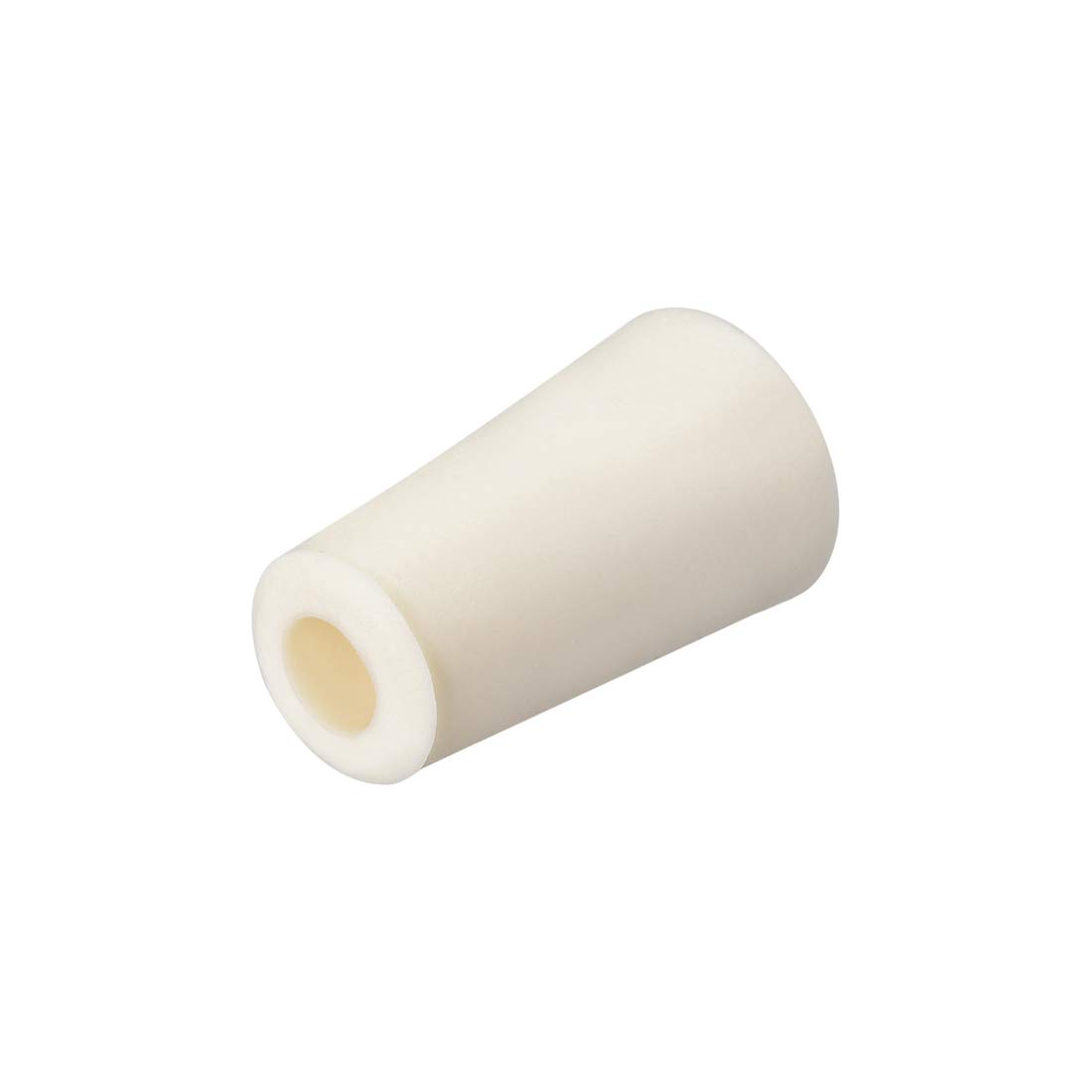 uxcell 17-22mm Beige Drilled Silicone Stopper Plugs for Flask Test Tube Stopper 2pcs