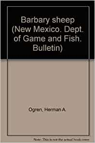 Barbary sheep new mexico dept of game and fish for New mexico department of game and fish