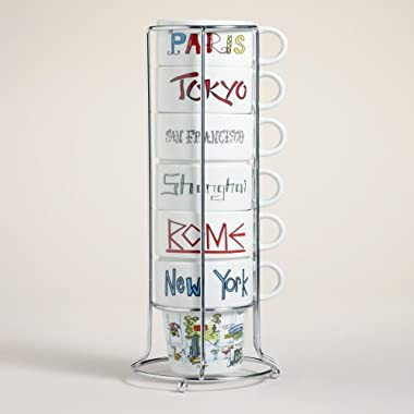Around the World Stacking Mugs, Set of 6 - World Market