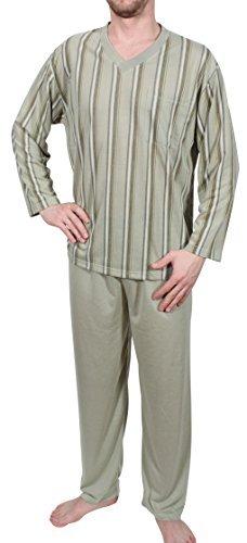 Pijama de Hombres Pijama Camisón Largo - Verde Oliva, M 46-48