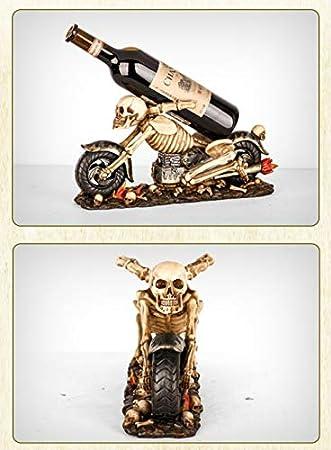 Botellero Vino, Motocicleta Resina Estantería De Vino Adornos Botellero Para Hogar Decoración Escaparate Caja De Almacenaje Botelleroswine Rack,A