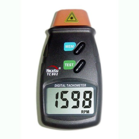Nicety Handheld Digital Laser Photo Tachometer RPM Tach Small Engine Motor  Speed Gauge