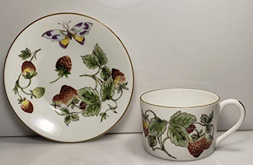 Coalport Strawberry Cup and Saucer Set