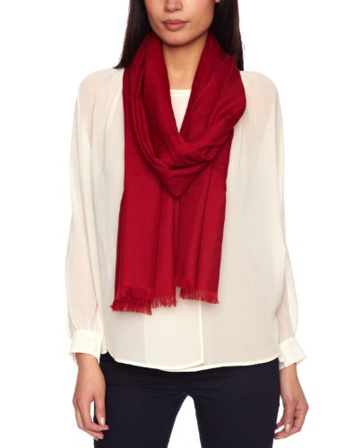 Echo Design Women's Solid Lightweight Wool Wrap, Madder Red, One Size