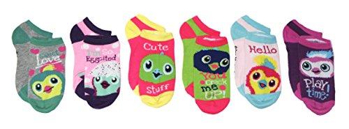 Low Cut Girls Socks - Girls Hatchimals 6 Pack Low Cut Socks (Multi)