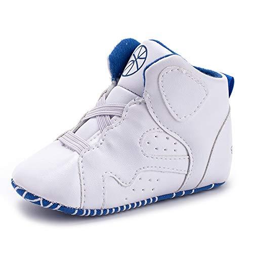 Unisex Baby Boys Girls Star High Top Sneaker Soft Anti-Slip First Walkers Shoes (Nylon Phantom Boot)