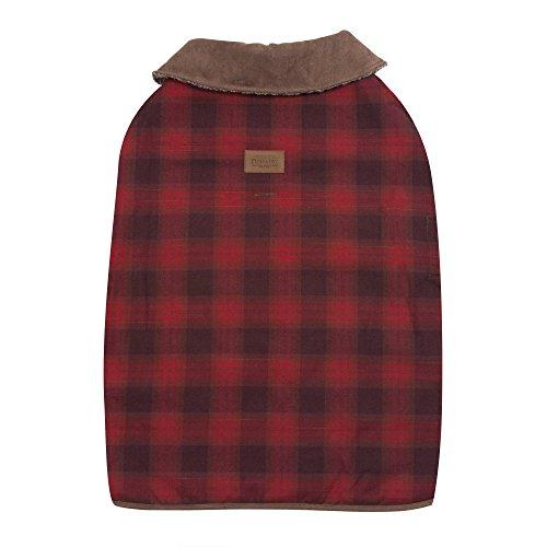 Coat Faux Suede Dog (Carolina Pet Pendleton Red Ombre Dog Coat XLarge)