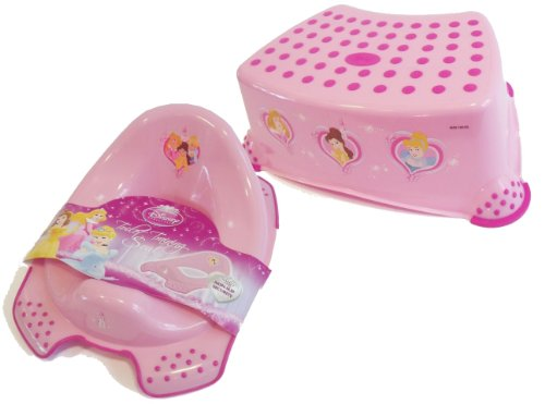Disney Princess Toddler Toilet Training Seat & Step Stool Combo - Pink
