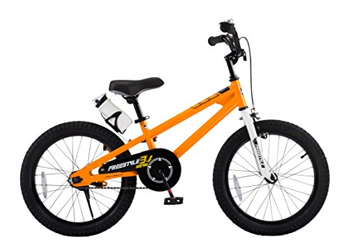 Royalbaby Freestyle Kid's Bike for Boys and Girls, 18 inch with Kickstand, Orange