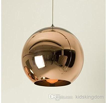 1 Pieza de cobre de 40 cm de diámetro de sombra de luz colgantes ...