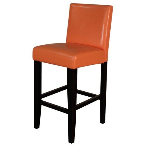 Monsoon Pacific Villa Faux Leather Counter Stool, Sunrise Orange, Set of (Sun Back Chairs)