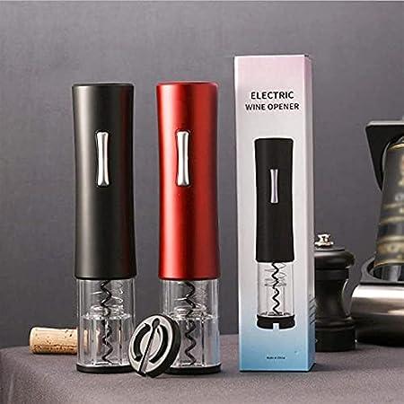 Sacacorchos eléctrico abridor de botellas de vino portátil y automático juego de cortador de papel de sacacorchos para vino tinto tapa