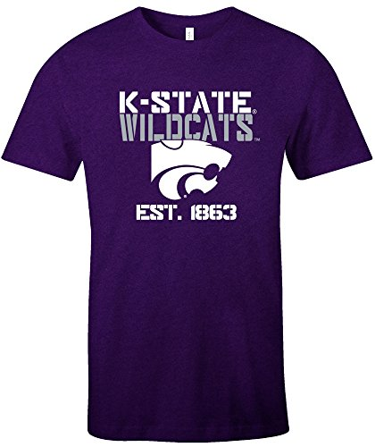 NCAA Kansas State Wildcats Est Stack Jersey Short Sleeve T-Shirt, (Kansas State Football Jersey)