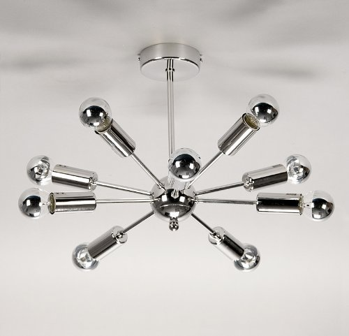 Chrome sputnik 10 way ceiling light with mirror bulbs amazon chrome sputnik 10 way ceiling light with mirror bulbs amazon lighting mozeypictures Image collections