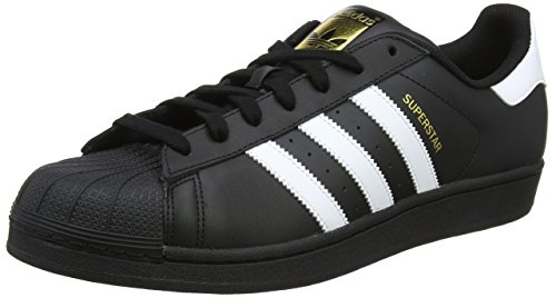 Adidas Superstar Foundation B27140 Zapatillas para Hombre, Negro, 8.5US,  26.5 MEX