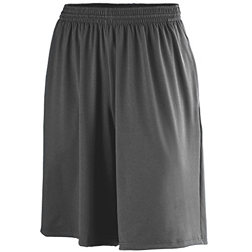 Poly Spandex Augusta (Augusta Sportswear Men's POLY/SPANDEX SHORT WITH POCKETS L Black)