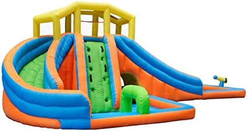 大きく屋外の膨脹可能なトランポリンの跳躍の城、公園のスライドロックの上昇の水鉄砲のプールのプールが付いている公園 (Color : Blue, Size : 25.9ft)