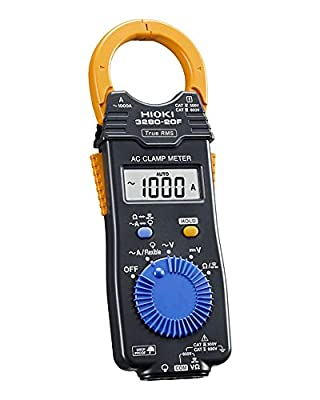Hioki HiTester 3280-20F True RMS Clamp-Meter, 2,000A AC, Conductors to 33mm, Voltage and Resistance Measurement