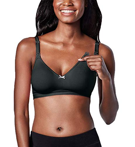 BRAVADO! DESIGNS The Sweet Pea Nursing Bra-Black Licorice-34D/E (Pea Maternity Sweet)