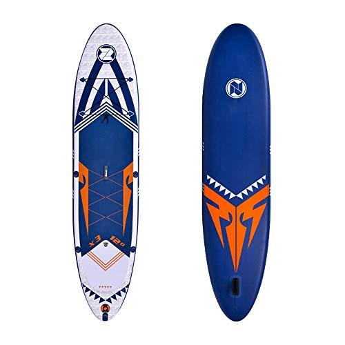 WEIFAN-Aufblasbares-Stand-Up-Paddle-Board-Sup-365X81X15Cm-Mit-3-Flossen-Thuster-Verstellbarer-Paddel-Handpumpe-Und-Tragesack-FR-AnfNger-Und-Fortgeschrittene-Zum-Angeln-Beim-Schnorcheln