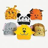 Jungle Animal Baseball Caps (1 dz)