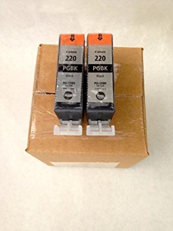 - Canon PGI-220 Ink Cartridge - Black - 2 Pack in Retail Packing