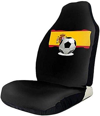 Amazon.es: Dem Boswell Cubiertas de Asiento de automóvil Balón de fútbol con Bandera de España Cubiertas de Asiento Delantero de automóvil para la mayoría de los vehículos, automóviles, sedán, camión, SUV, Van