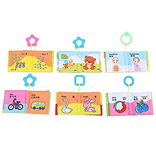 Early Educational 6PCS Infant ClothBook Cloth Book, Colorful for Children(Cloth Book Set 235g)