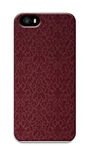 iphone covers Burgandy Victorian Pattern - Personalized Crystal Clear Enamel Hard Back Shell Case Cover Skin for Iphone 6 4.7