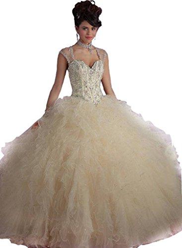 Perlas n Bola Angela Champ Acanalada Las Mujeres De Correas Quincea De Vestido De De De Vestido Baile era pwq7SRxzI