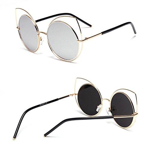 gafas Frame Alger anti A Street beat C gato Gafas sol personalidad de Moda de ojo UV Metal 88r7Tw