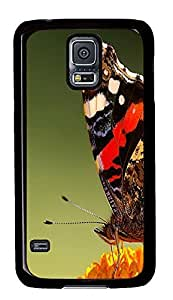 Samsung S5 most protective cases Butterfly Closeup Animal PC Black Custom Samsung Galaxy S5 Case Cover