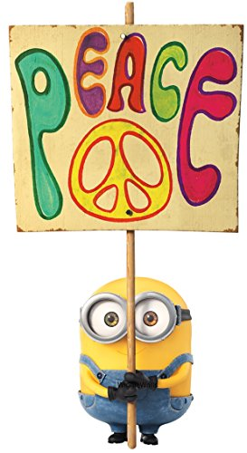 10 Inch Peace Sign Brother Bob Minion Despicable Me Removable Wall Decal Sticker Art Home Decor Kids Room-5 1/4 Inch Wide By 10 Inch Tall