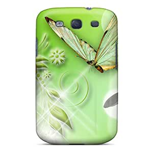 Premium Protection Snowdrops On Green Case Cover For Galaxy S3- Retail Packaging