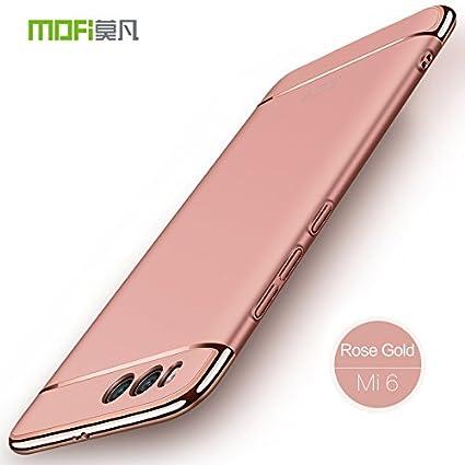 Funda Xiaomi Mi6 - BCIT Carcasa Xiaomi Mi6 con 3 en 1 Desmontable Ultra-Delgado Anti-Arañazos Xiaomi Mi6 Funda Protectora - Rose Oro
