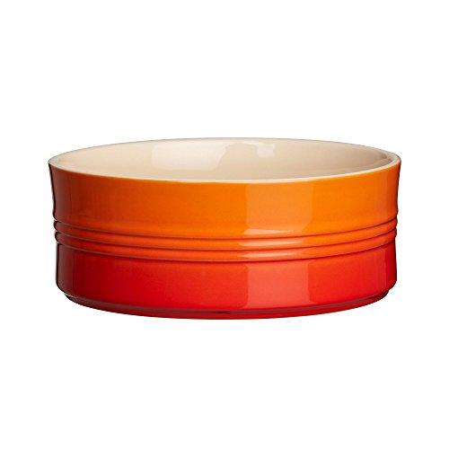 Le Creuset Stoneware Souffle Dish, 1-Quart, Flame