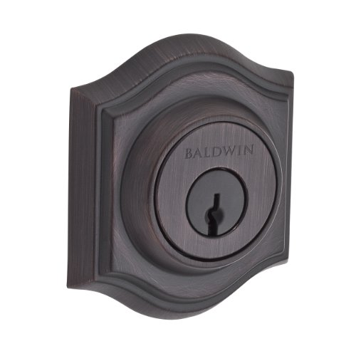 Baldwin Reserve 9BR3850-010 Traditional Arch Low Profile Double Cylinder Deadbolt in Venetian ()